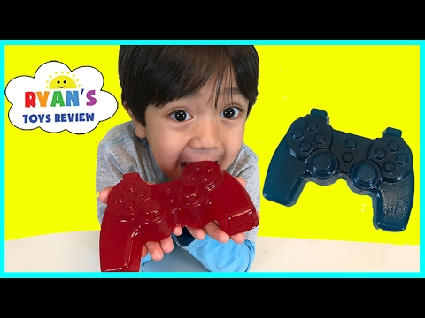 Gummy Food Controller Candy for Kids Taste Test Family Fun Lego Gummy Candy Review Ryan ToysReview