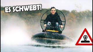 Unser Schlauchboot - HOVERCRAFT schwebt!   SELBSTGEBAUTES Amphibienfahrzeug!