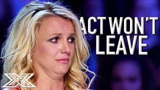 BRITNEY Fan Won't Leave After Audition Goes Wrong! | X Factor Global