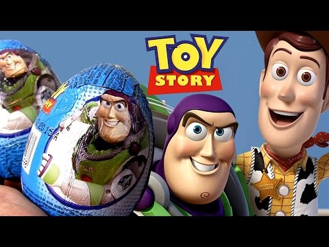 TOY STORY Surprise Eggs Zaini same as Kinder Huevos Sorpresa Woody Buzz Lightyear