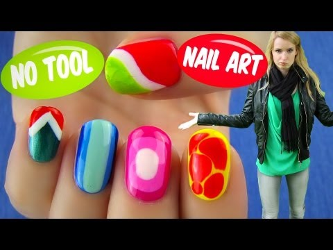 No Tool Nail Art! 5 Nail Art Designs & Ideas Without Any Nail Art Tools,