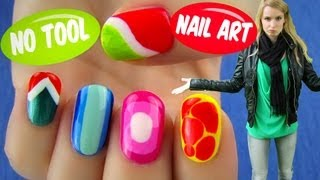 No Tool Nail Art! 5 Nail Art Designs & Ideas Without Any