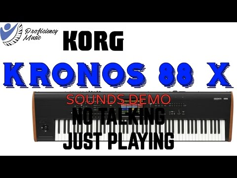 Korg Kronos X 88 Sounds Demo (No Talking, Just Playing)