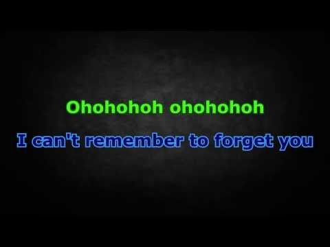 Shakira ft. Rihanna - Can't Remember To Forget You (Karaoke/Instrumental) with lyrics