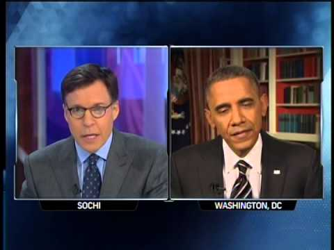 Obama Interview on Sochi Olympics in Russia with Bob Costas before Opening Ceremony