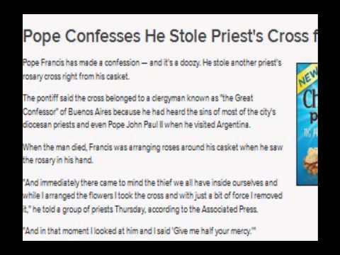 Pope Confesses He Stole Priest's Cross from Casket