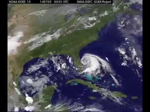 Hurricane Arthur, satellite map
