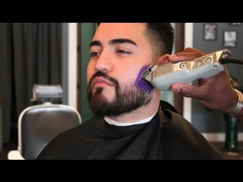 how to trim a long beard men 39 s facial grooming youtube. Black Bedroom Furniture Sets. Home Design Ideas