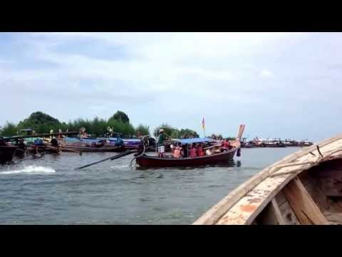 Long tail boat to Muslim Village, Thailand