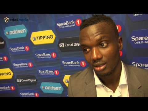 Kamal Issah delighted his season's first goal has lifted Stabaek from the drop