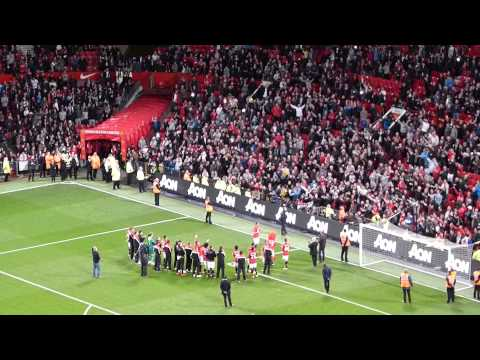 Manchester United vs Hull City Vidic Speech (06/05/2014)
