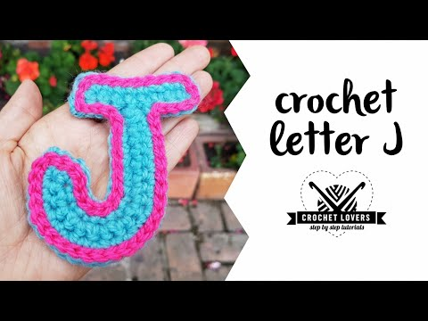 How to crochet LETTER J ♥ CROCHET LOVERS