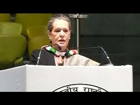 Sonia Gandhi addresses crucial Congress meet