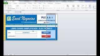Estructuras Excel (Diario, Mayor, D. Simplificado) Libros