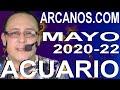 Video Horóscopo Semanal ACUARIO  del 24 al 30 Mayo 2020 (Semana 2020-22) (Lectura del Tarot)