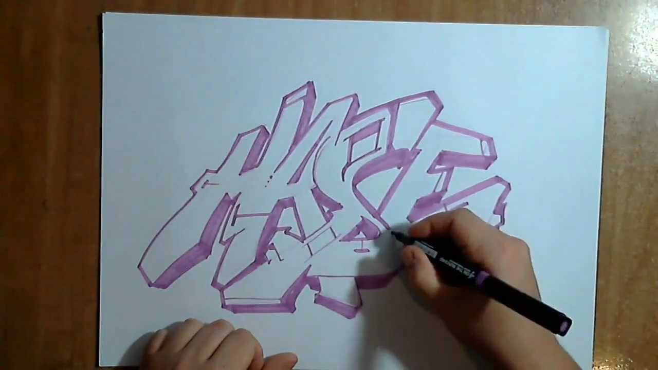 Www Ver Video Graffiti Paso A Paso Dibujando Un Graffiti By Hase Flow