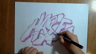 Graffiti Paso A Paso Dibujando Un Graffiti [ By Hase Flow