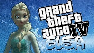 Elsa The Snow Queen GTA IV Funny Moments