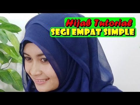 Hijab Tutorial - Cara Memakai Jilbab Paris Segi empat Square Scarf by Nica #186