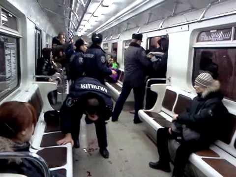 драка в киевском метро - drakoff.ru