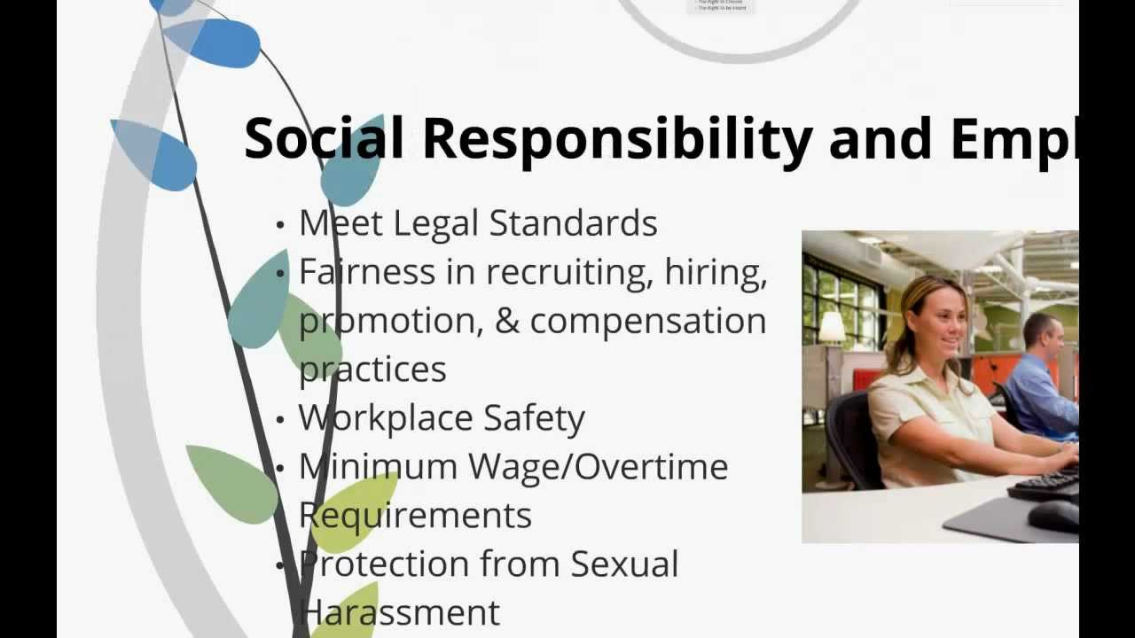 business ethics social responsibility Chapter 2 corporate social responsibility and business ethics a great society is a society in which [leaders] of business think greatly about their functions alfred north whitehead.