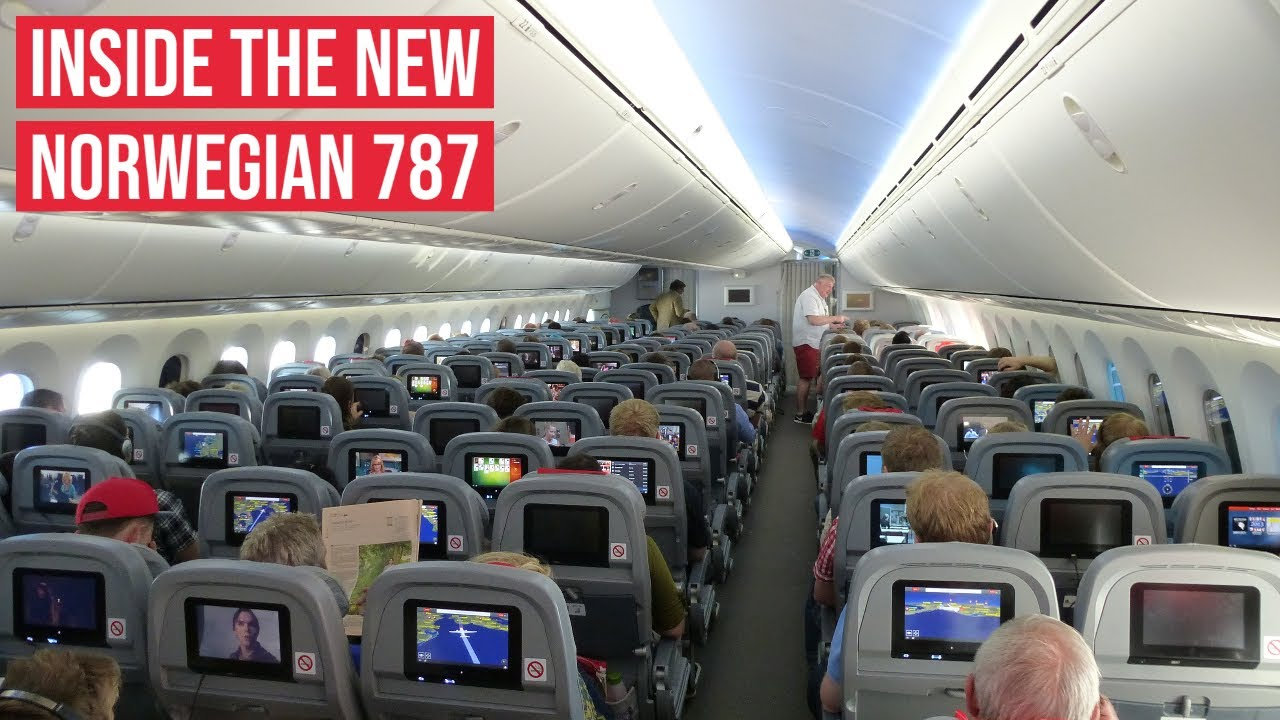 New Norwegian Boeing 787 Dreamliner In Flight Impressions
