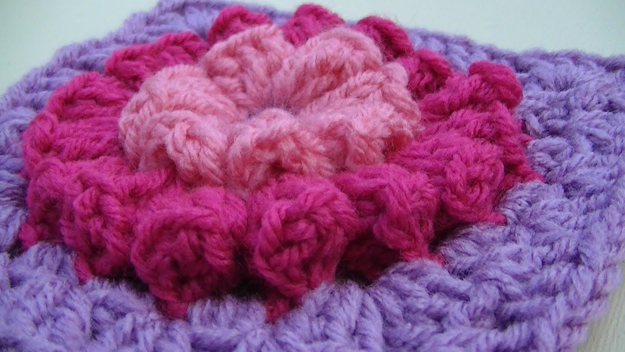 Crocheting Granny Squares On Youtube : Popcorn Party Granny Square Crochet Tutorial - YouTube