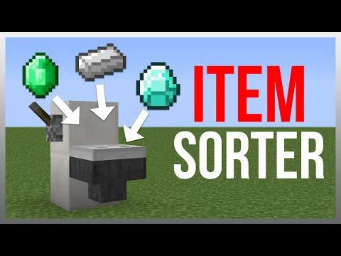 Minecraft 1.12: Redstone Tutorial - Item Sorter (Hidden)