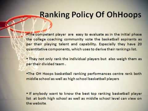 OhHoops Provide Basketball Player Rankings at Ohio