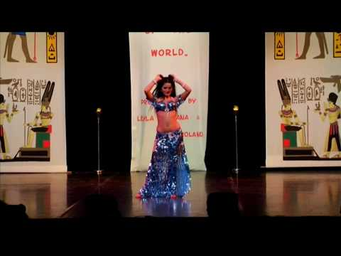 Yaelle amazing sharqi and drum solo bellydance 5th place Bellydancer of the World 2013