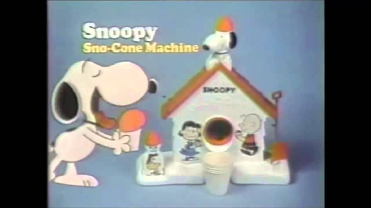 sno cone machine snoopy