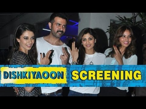 Harman Baweja And Bipasha Basu Attend The Special Screening Of Film 'Dishkiyaoon'