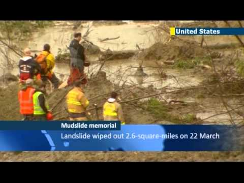 Memorials begin for Washington State mudslide victims: US town of Oso in mourning
