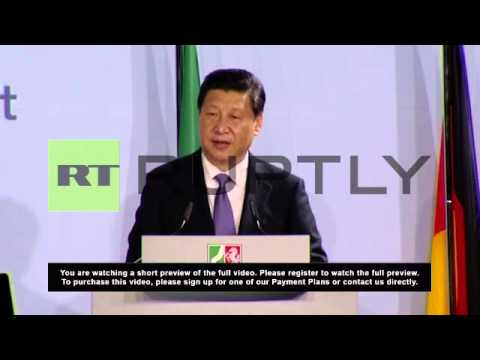 Germany: Xi Jinping visits Dusseldorf on trade ties trip