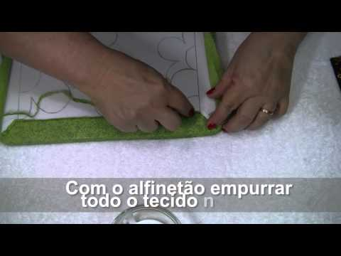 TUTORIAL PATCHWORK EMBUTIDO - PORTA CHAVES