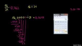 Primer 1 – Pretvorba ulomka na decimalno število