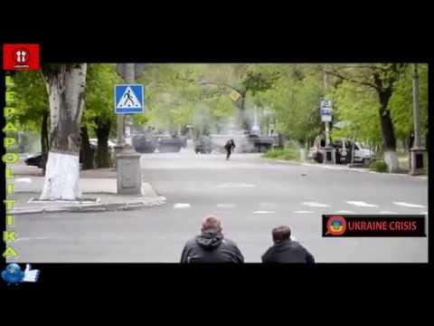Ukrainian Soldier Fires RPG At Pro Russian Militias