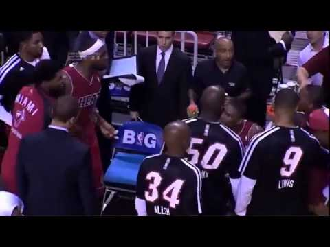 LeBron James Yells at  Mario Chalmers