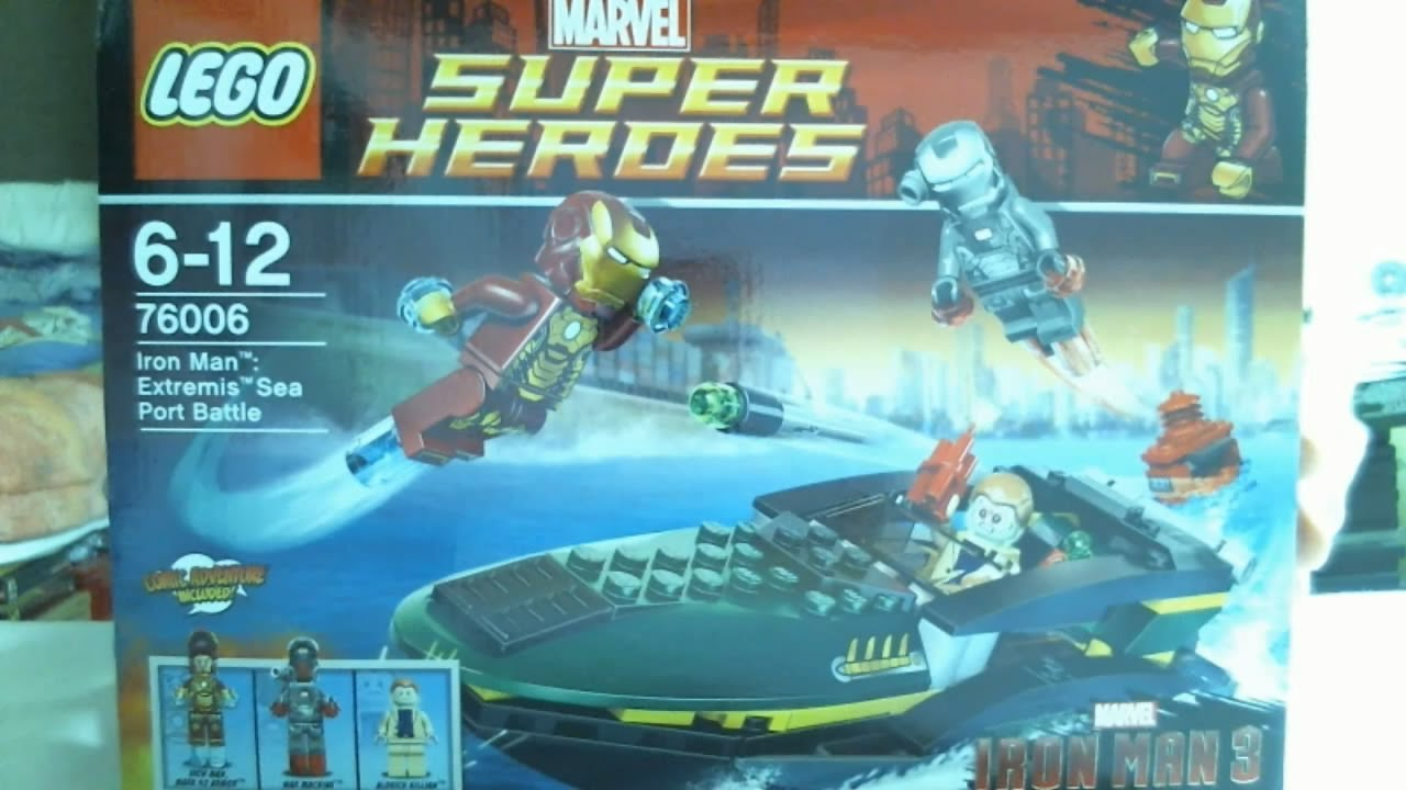 Lego live construction marvel universe super heroes - Lego iron man extremis sea port battle ...