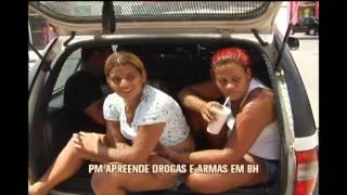 Bandidos tomam sorvete no cambur�o ao serem presos com drogas