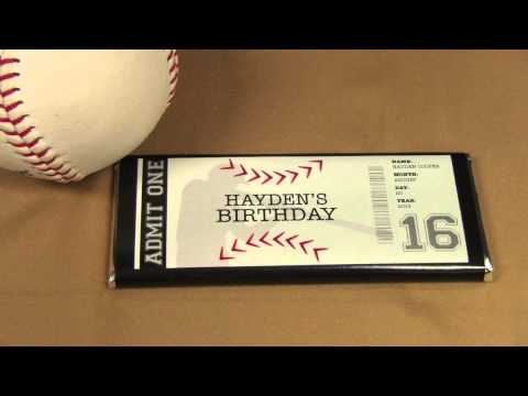 Ticket to Fun: Customized Chocolate Baseball Candy