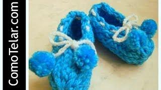 Zapatos De Bebé Tejido En Telar Redondo / Circular