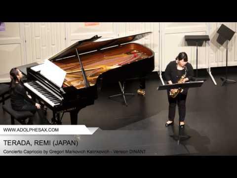 Dinant 2014 - TERADA, REMI (Concierto Capriccio by Gregori Markovich Kalinkovich - v. DINANT)