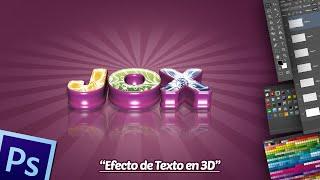 Efecto de Texto 3D en Photoshop