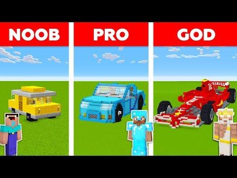 Minecraft NOOB vs PRO vs GOD: CAR in Minecraft / Funny Animation
