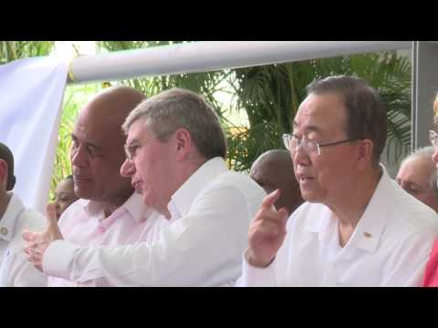 IOC brings hope to Haiti with opening of new sport centre