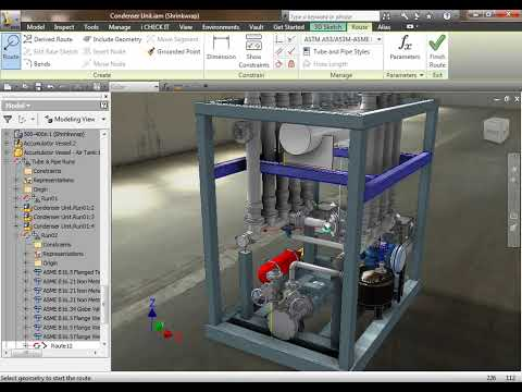 Autodesk Inventor Professional 2011 - Tubing &amp; Piping (Routed Systems)