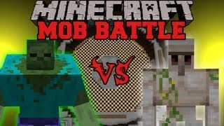 Mutant Zombie Vs Iron Golem Minecraft Mob Battles