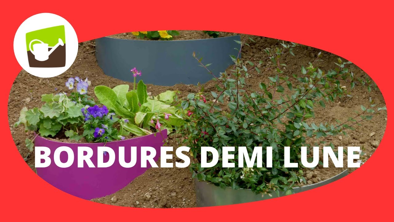 Bordure demi lune en acier 3 coloris jardin et saisons for Jardinetsaisons