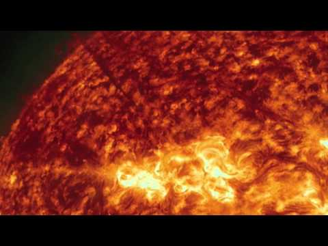 'Gushing' Hot Plasma Erupts From Sun | Video